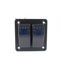 Alu panel switch, ON/OFFx2...